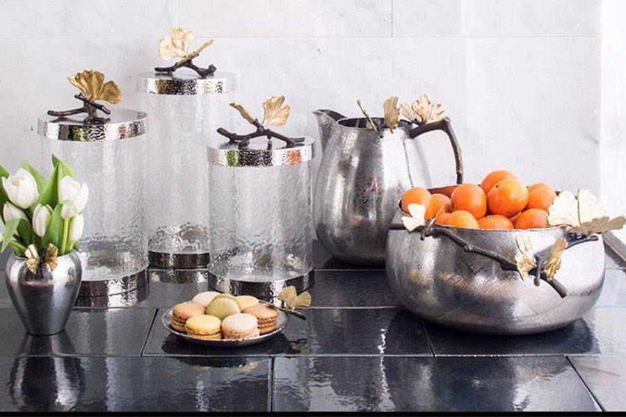 Michael Aram 玻璃罐 水壺 不鏽鋼容器