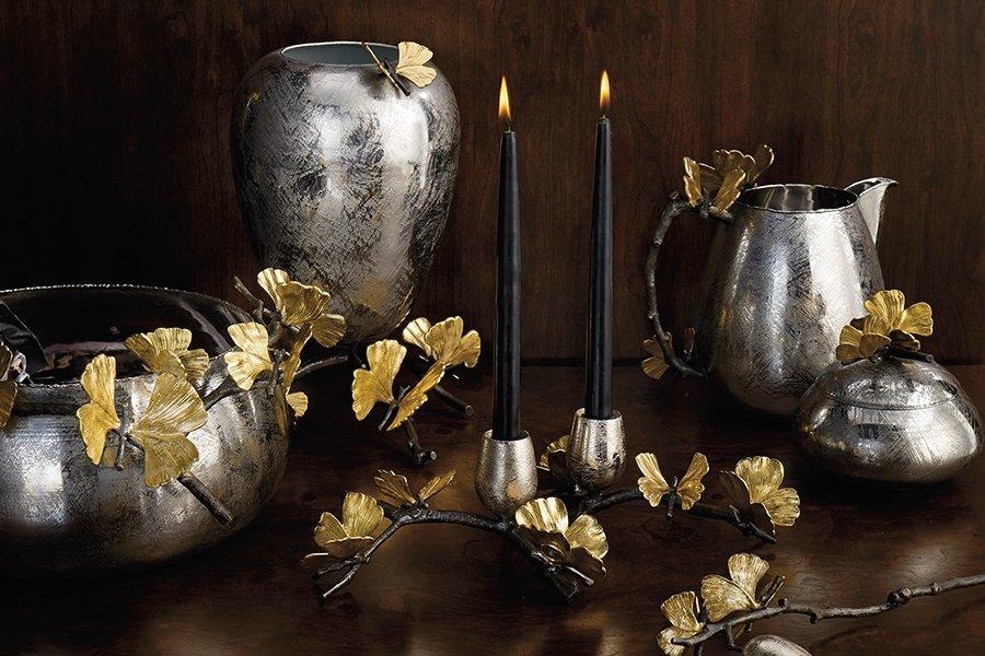 Michael Aram 不鏽鋼花器 水壺 燭台 珠寶盒