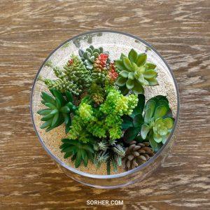 多肉植物人造花藝設計