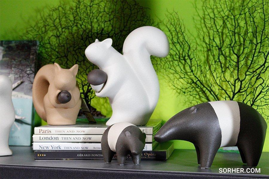 義大利進口擺飾 松鼠 馬來貘 瓷雕塑