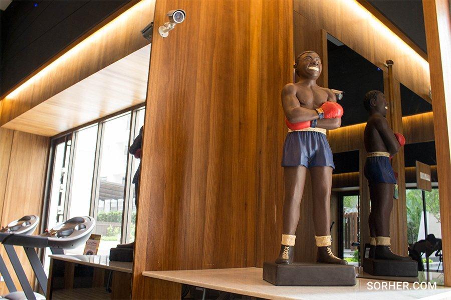 運動室佈置 雕塑